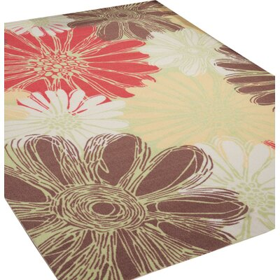 Avis Brown/Green/Red Indoor/Outdoor Area Rug Rug Size: Rectangle 10 x 13