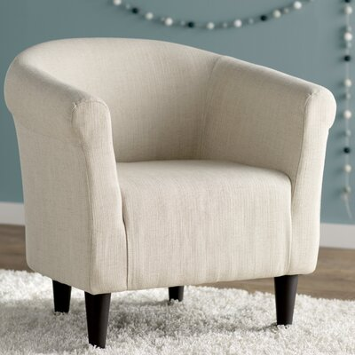 Liam Barrel Chair Upholstery: Notion Creampuff