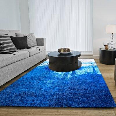 Greta Blue Area Rug Rug Size: 78 x 102