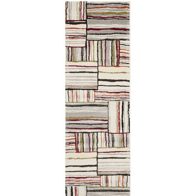 Mclaughlin Beige/Red Area Rug Rug Size: Runner 24 x 67