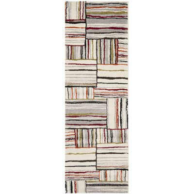 Mclaughlin Beige/Red Area Rug Rug Size: 53 x 77