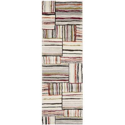 Ilene Beige/Red Area Rug Rug Size: 4 x 57