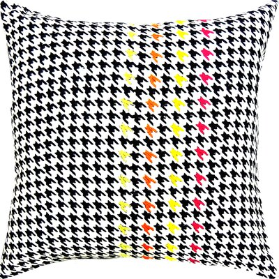 Jimmie Hounds Tooth Handcrafted Throw Pillow