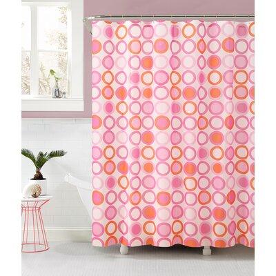 Allan Shower Curtain Color: Pink/Orange