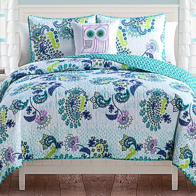 Saul Reversible Quilt Set Size: Twin