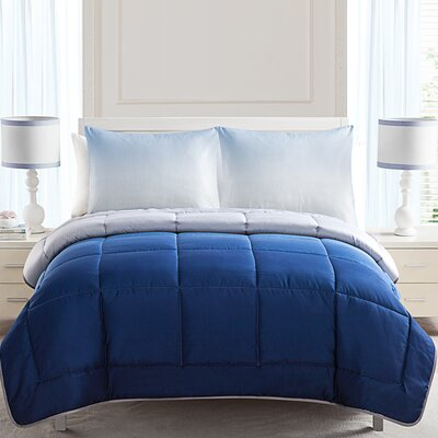 Beulah Comforter Set Size: Full Queen, Color: Blue