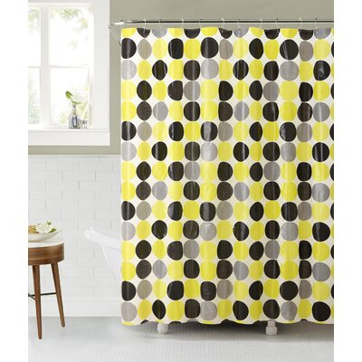 Beverley Vinyl Shower Curtain Color: Blue/Gray