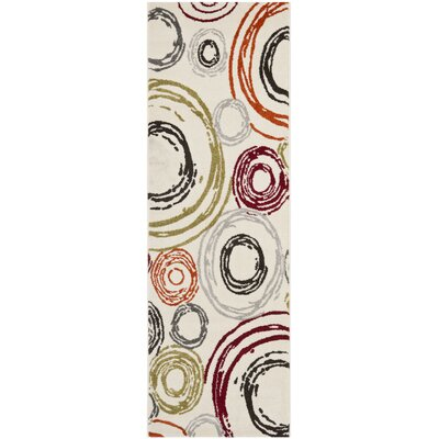 Charis Geometric Ivory Area Rug Rug Size: Rectangle 27 x 5