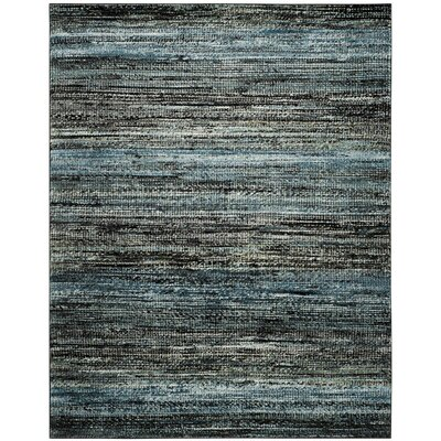 Charis Charcoal/Blue Area Rug Rug Size: Rectangle 8 x 10