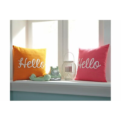 Bonita Cotton Throw Pillow Color: Orange
