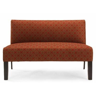 Doreen Estates Doreen Loveseat Upholstery: Crimson