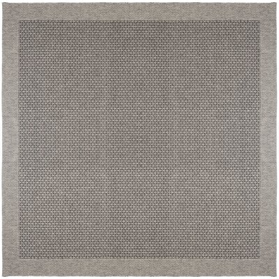Felipe Charcoal Indoor/Outdoor Area Rug Rug size: Square 76