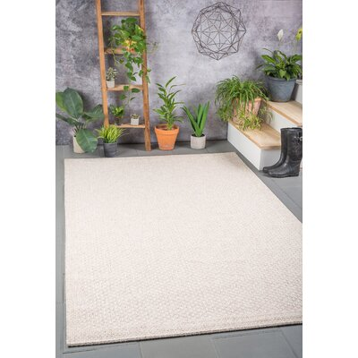 Felipe Cream Indoor/Outdoor Area Rug Rug size: 93 x 123