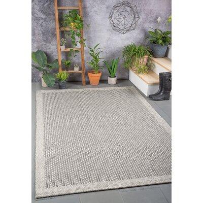 Felipe Charcoal Indoor/Outdoor Area Rug Rug size: 93 x 123
