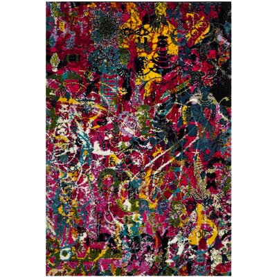 Cleveland Contemporary Fuchsia Area Rug Rug Size: Rectangle 67 x 92