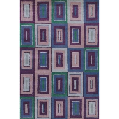 Krysta Blue/Purple Rug Rug Size: 2 x 3