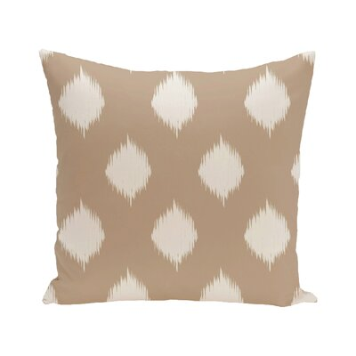 Jaclyn Geometric Print Outdoor Throw Pillow Size: 20 H x 20 W x 1 D, Color: Toffee