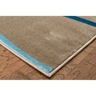Browning Taupe Area Rug Rug Size: 53 x 75