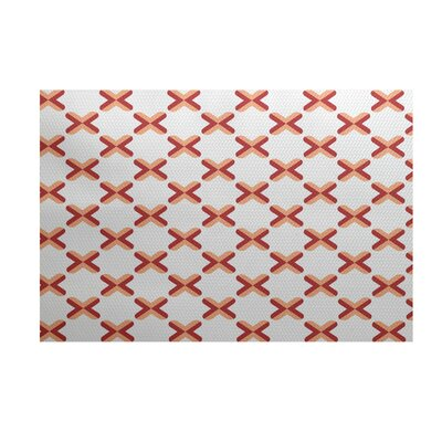Elaine Orange Indoor/Outdoor Area Rug Rug Size: 3 x 5