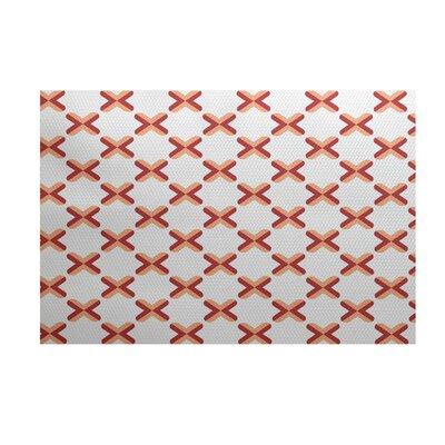 Elaine Orange Indoor/Outdoor Area Rug Rug Size: 5 x 7