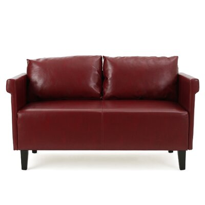 Bruno Settee Upholstery: Red