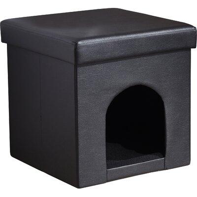 Brent Pet Ottoman Color: Black