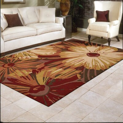 Lupe Hand-Woven Brown Area Rug Rug Size: Rectangle 36 x 56