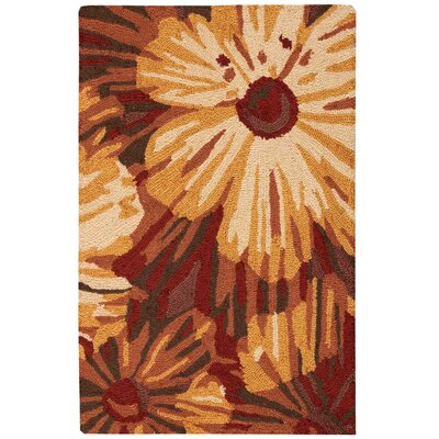 Allenford Hand-Woven Brown Area Rug Rug Size: 19 x 29