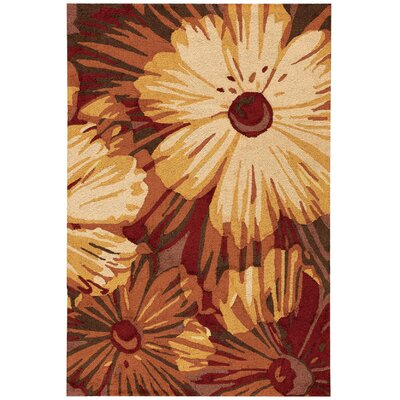 Allenford Hand-Woven Brown Area Rug Rug Size: 36 x 56