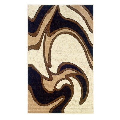 Bruns Black/Cream Area Rug Rug Size: 73 x 43