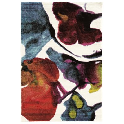 Bee White Area Rug Rug Size: Rectangle 8 x 103