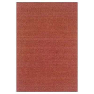 Kelli Red Indoor/Outdoor Area Rug Rug Size: 5'3
