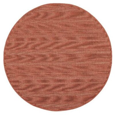Kelli Red Indoor/Outdoor Area Rug Rug Size: Round 710