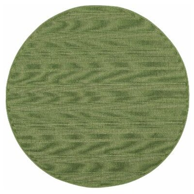 Kelli Green Indoor/Outdoor Area Rug Rug Size: Round 710