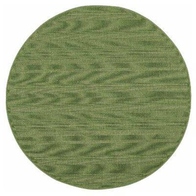 Kelli Green Indoor/Outdoor Area Rug Rug Size: Round 710