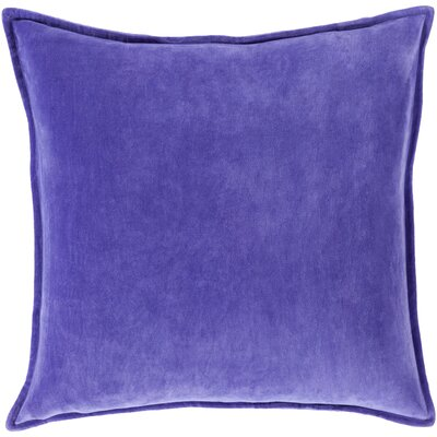 Carey 100% Cotton Velvet Throw Pillow Cover Size: 22 H x 22 W x 1 D, Color: Bright Purple