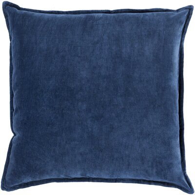 Carey Velvet Pillow Cover Size: 22 H x 22 W x 1 D, Color: Navy