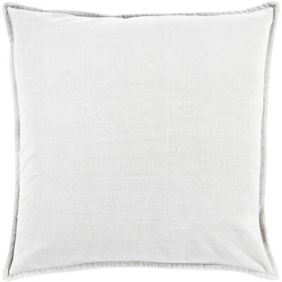 Carey Velvet Pillow Cover Size: 20 H x 20 W x 1 D, Color: Medium Gray