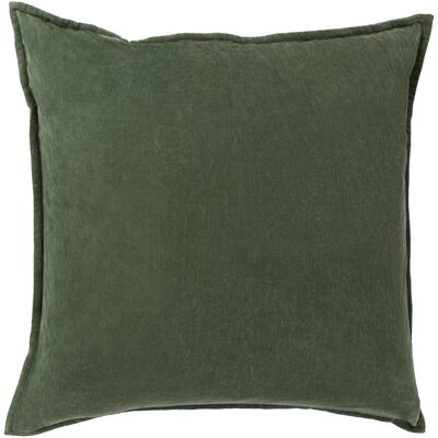 Carey 100% Cotton Velvet Throw Pillow Cover Size: 20 H x 20 W x 1 D, Color: Green