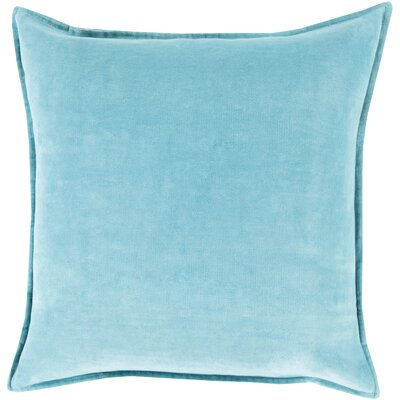 Carey 100% Cotton Velvet Throw Pillow Cover Size: 20 H x 20 W x 1 D, Color: Blue
