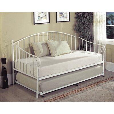 Charmaine Trundle Bed Finish: White