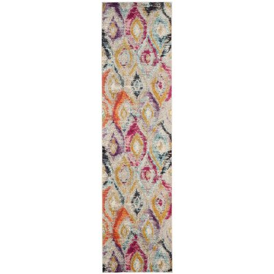 Goose Point Orange/Yellow Area Rug Rug Size: Runner 22 x 8
