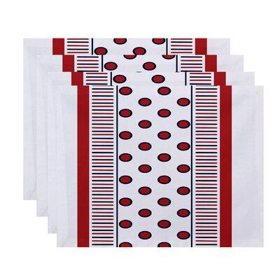 Doretta Center Stripe Placemat Color: Red