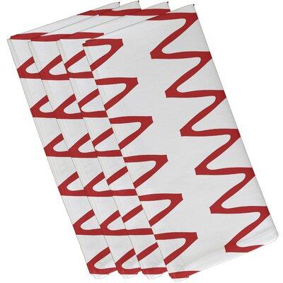 Doretta Zipped Napkin Color: Red