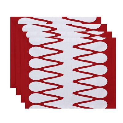 Doretta Zipped Placemat Color: Red
