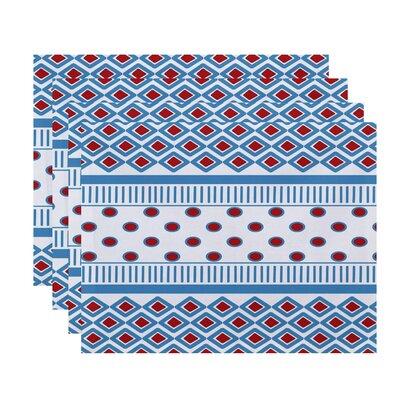 Doretta Scrambled Placemat Color: Light Blue