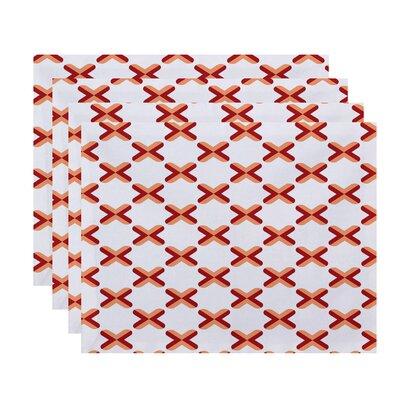 Doretta Criss Cross Placemat Color: Red