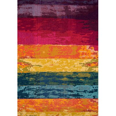 Whitchurch Orange/Blue Area Rug Rug Size: Rectangle 53 x 76