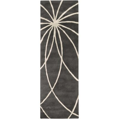Dewald Iron Ore/Antique White Area Rug Rug Size: Runner 26 x 8