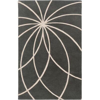 Dewald Iron Ore/Antique White Area Rug Rug Size: Round 4